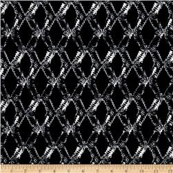 ITY Knit Abstract Diamonds Black