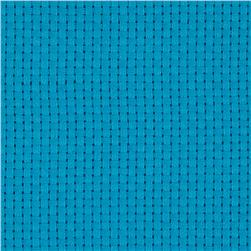 60'' Monk's Cloth Turquoise Fabric