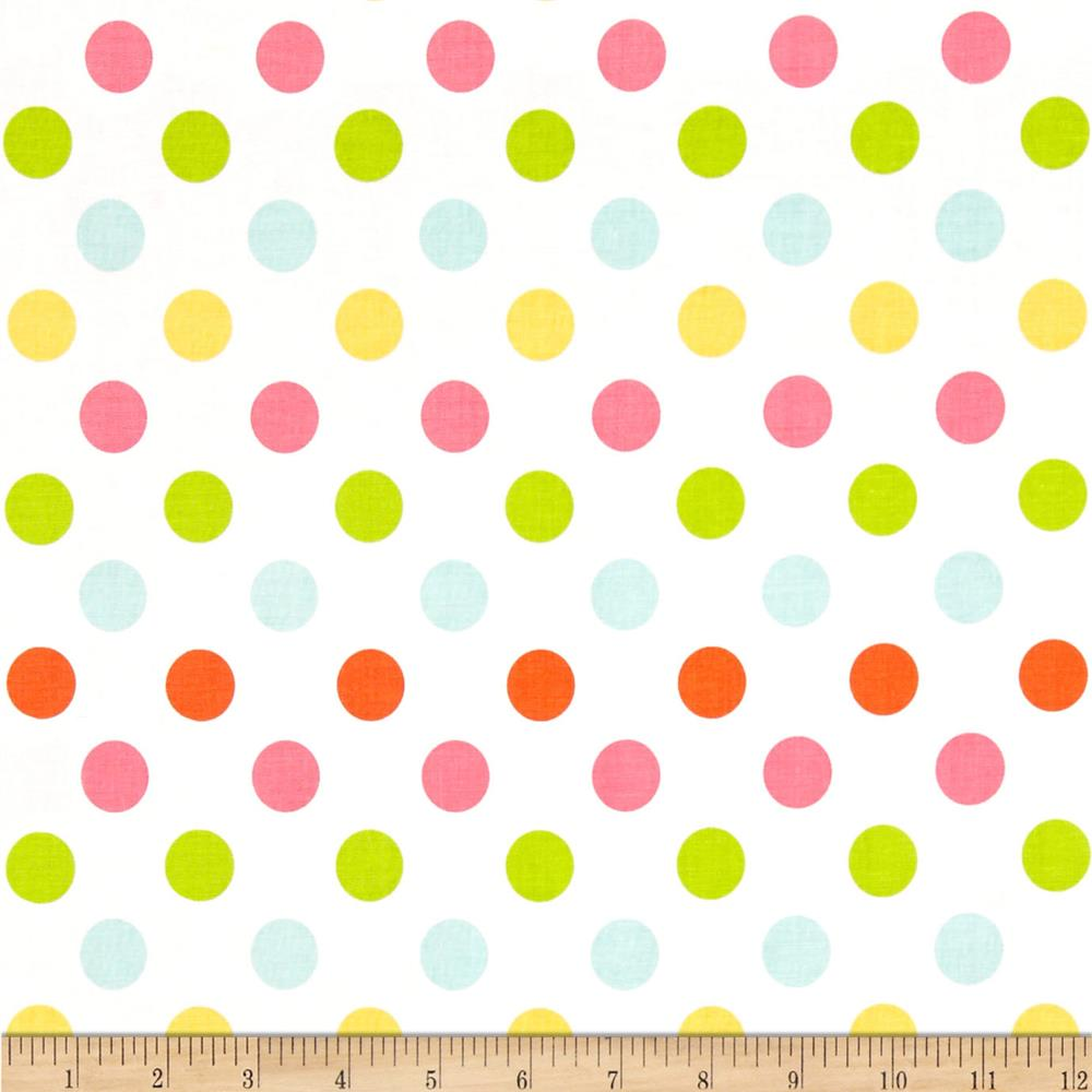 Riley Blake Medium Dot White/Multi