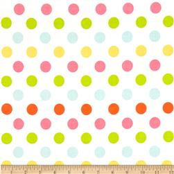 Riley Blake Medium Dot White/Multi Fabric