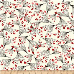 Kanvas Moon Flower Oshi Stems Cream/Red