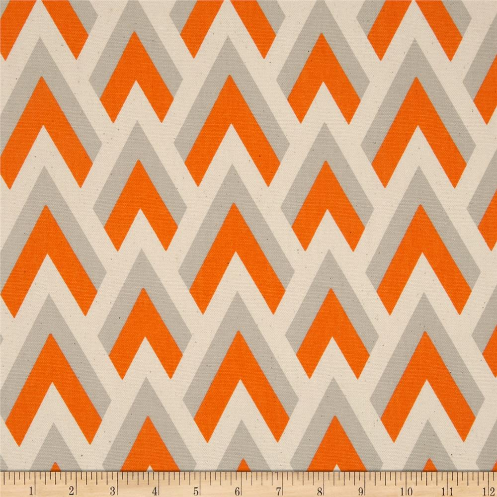 Premier Prints Zapp Mandarin/Natural - Discount Designer Fabric ...