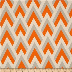 Premier Prints Zapp Mandarin/Natural Fabric