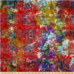 Merrivale Indian Batiks Dot Grid Multi