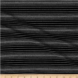 International Designer Jersey Knit Stripe Black/Silver