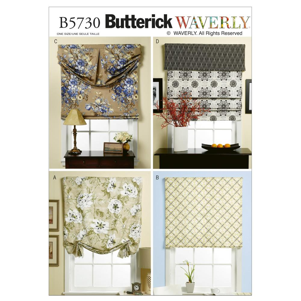 Butterick B5730 Window Shade And Valance Pattern OSZ (One