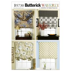 Butterick Window Shade and Valance Pattern B5730 Size OSZ