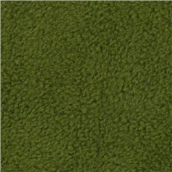 Wintry Fleece Leaf Green Fabric