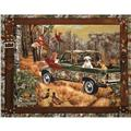 Realtree Fields of Golden Dogs Panel Multi