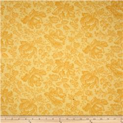 Moda Whitewashed Cottage Damask Daffodil