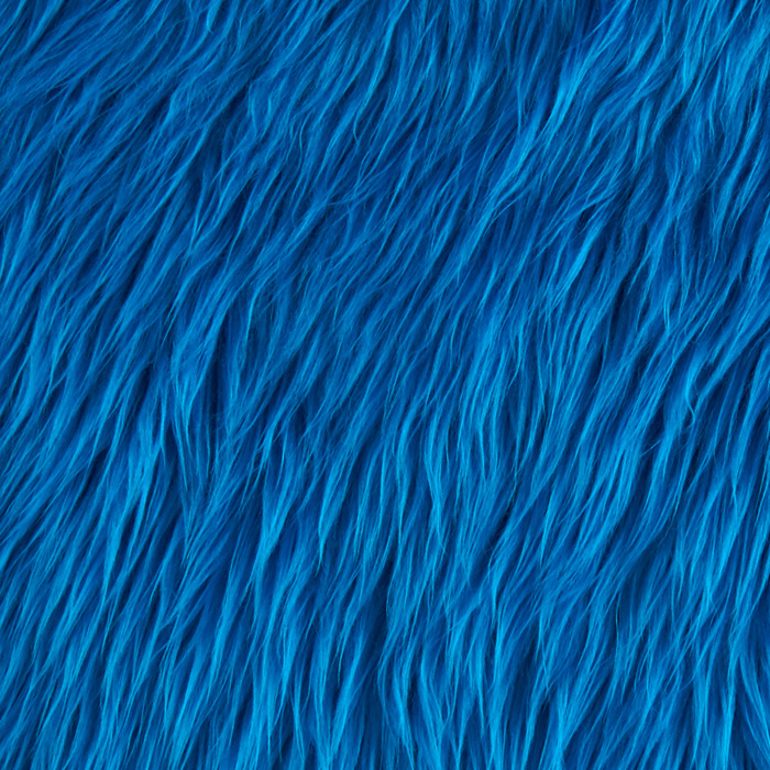 Faux Fur Mongolian Peacock Fabric by Shannon in USA