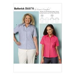 Butterick Misses'/Women's Shirt Pattern B6070 Size MIS