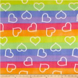 Polar Fleece Print Ombre Hearts Multi