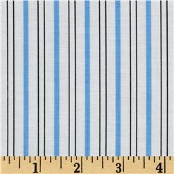 Citrus Thick & Thin Stripe Aqua Fabric