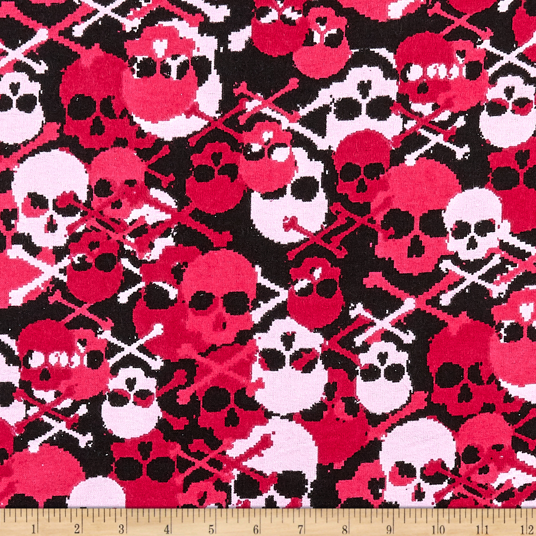 Flannel Skulls Fabric by Fabri-Quilt in USA