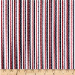 Patriotic Pride Pin-Head Stripe White