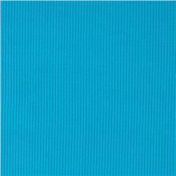 Poly Rib Knit Solid Light Aqua