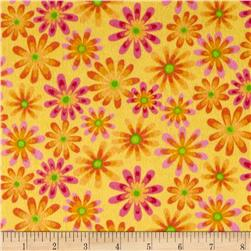 Lollipops Flannel Flowers Yellow