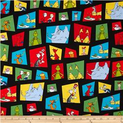 Dr. Seuss Celebrate Seuss Character Blocks Black