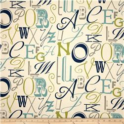 Premier Prints Alphabet Felix/Natural Fabric