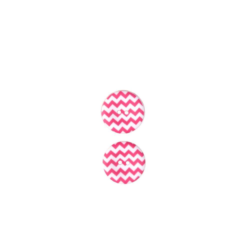"Riley Blake Sew Together 1 1/2"" Matte Button Chevron Hot Pink"