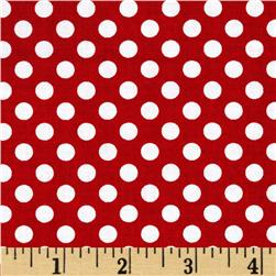Riley Blake Dots Small Red Fabric
