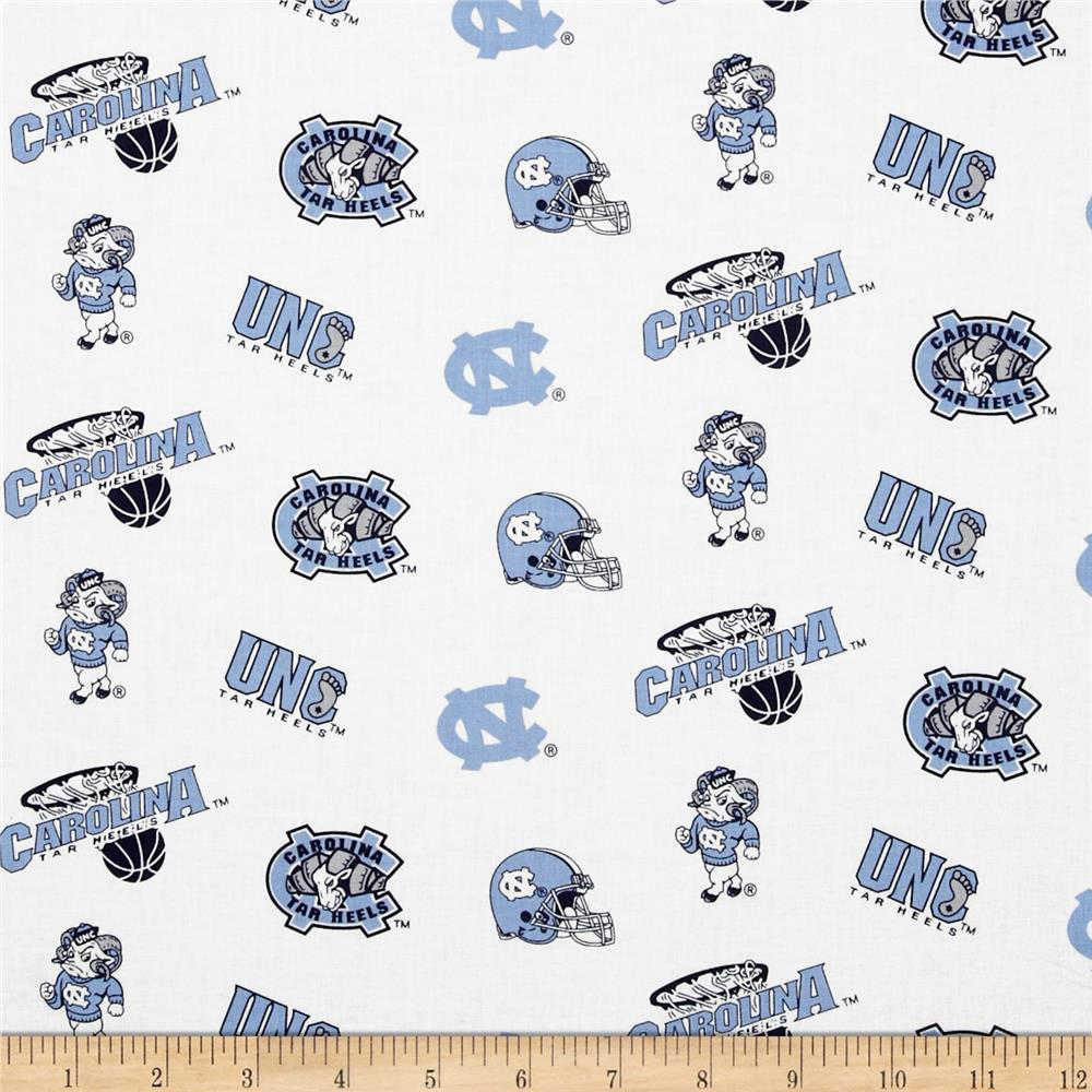 Collegiate Cotton Broadcloth University of North Carolina White