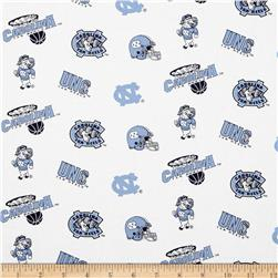 Collegiate Cotton Broadcloth University of North Carolina Fabric