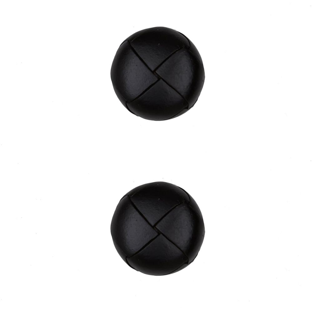 "Dill Buttons 7/8"" Genuine Black Leather Button"