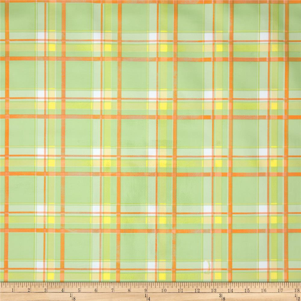 Oil Cloth Scottish Plaid Green