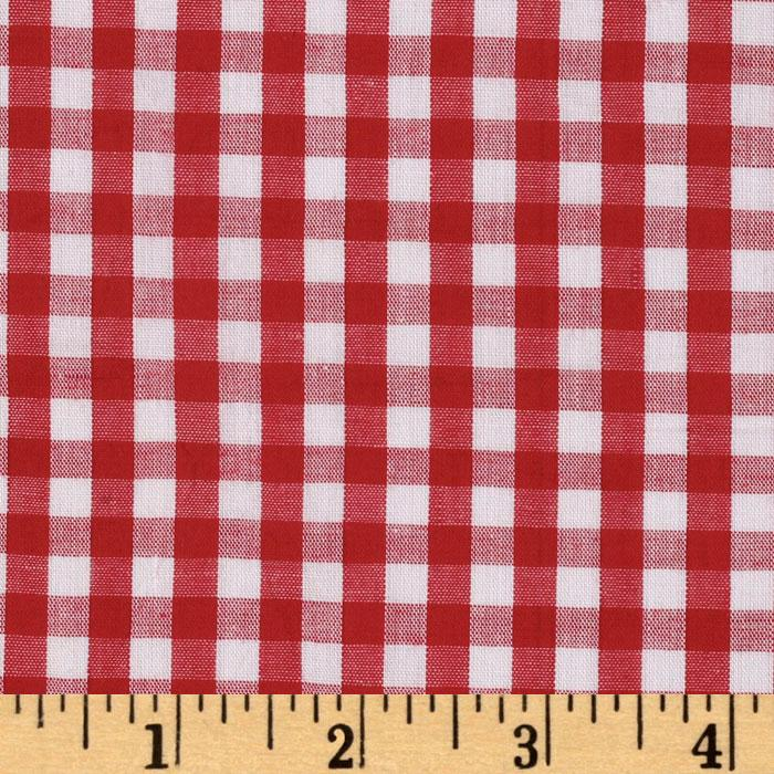 Woven 1/4'' Gingham Red