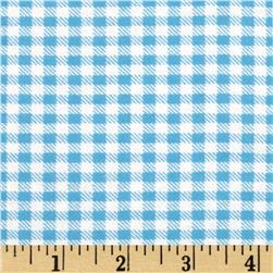Aunt Polly's Flannel Gingham Chambray/White