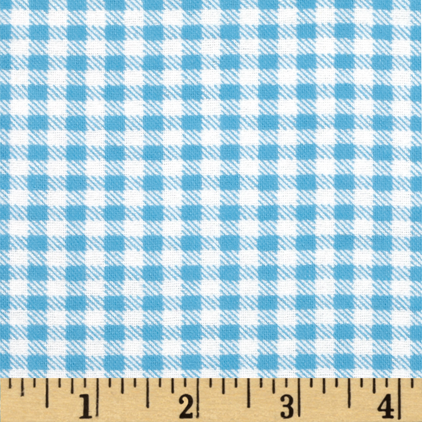 Aunt Polly's Flannel Gingham Chambray/White Fabric