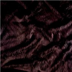 Shannon Black Bird Faux Fur Sangria