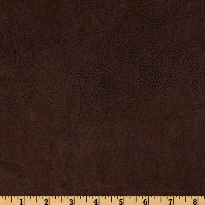 Bijoux Faux Leather Textured Brown Fabric