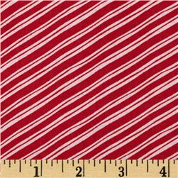 Sugar Rush Candy Cane Stripe Red Fabric