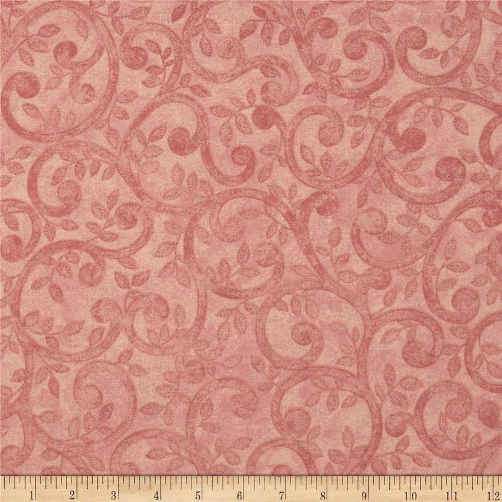 "Left Bank Wide Scroll 104"" Quilt Back Scroll Rose"