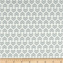 Moda Hugaboo Flannel In My Heart Huggable Grey