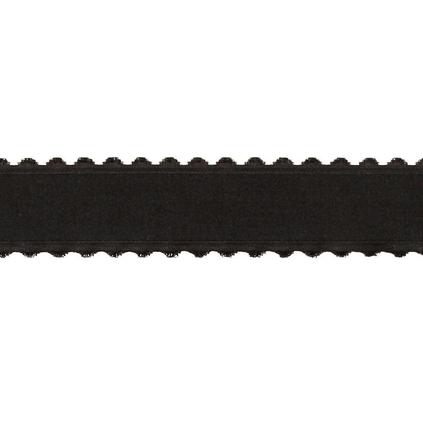 1.5'' Satin Scalloped Edge Ribbon Black