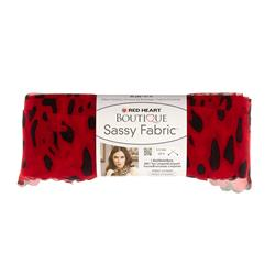 Red Heart Yarn Boutique Sassy Fabric Red Leopard