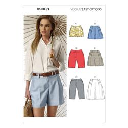 Vogue Misses' Shorts Pattern V9008 Size A50