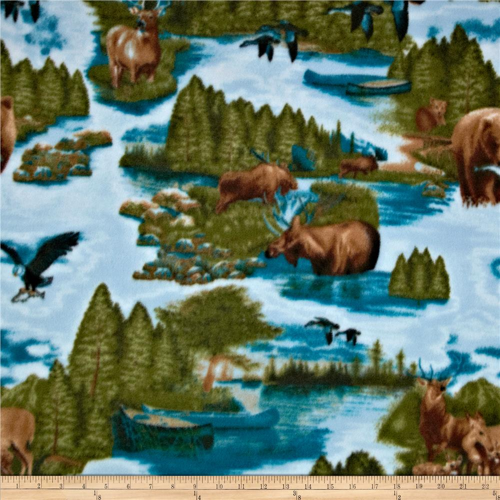 Fleece Wildlife Blue