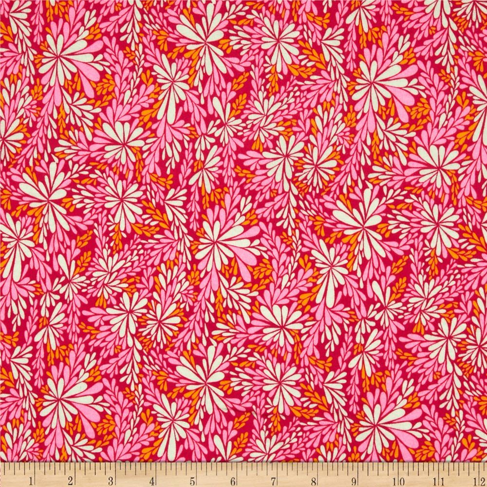 Valori Wells Quill Interlock Knit Floral Spray Pink