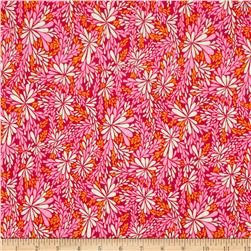 Valori Wells Quill Interlock Knit Floral Spray Pink Nectar