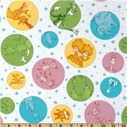 Celebrate Seuss! Slicker Laminated Cotton Characters White/Pastel