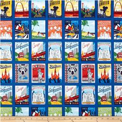 Robert Kaufman Explore America City Postcards Bright