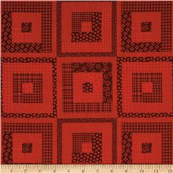 Peaceful Gathering Log Cabin Red