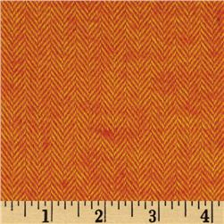 Primo Plaids Harvest Flannel Herringbone Orange