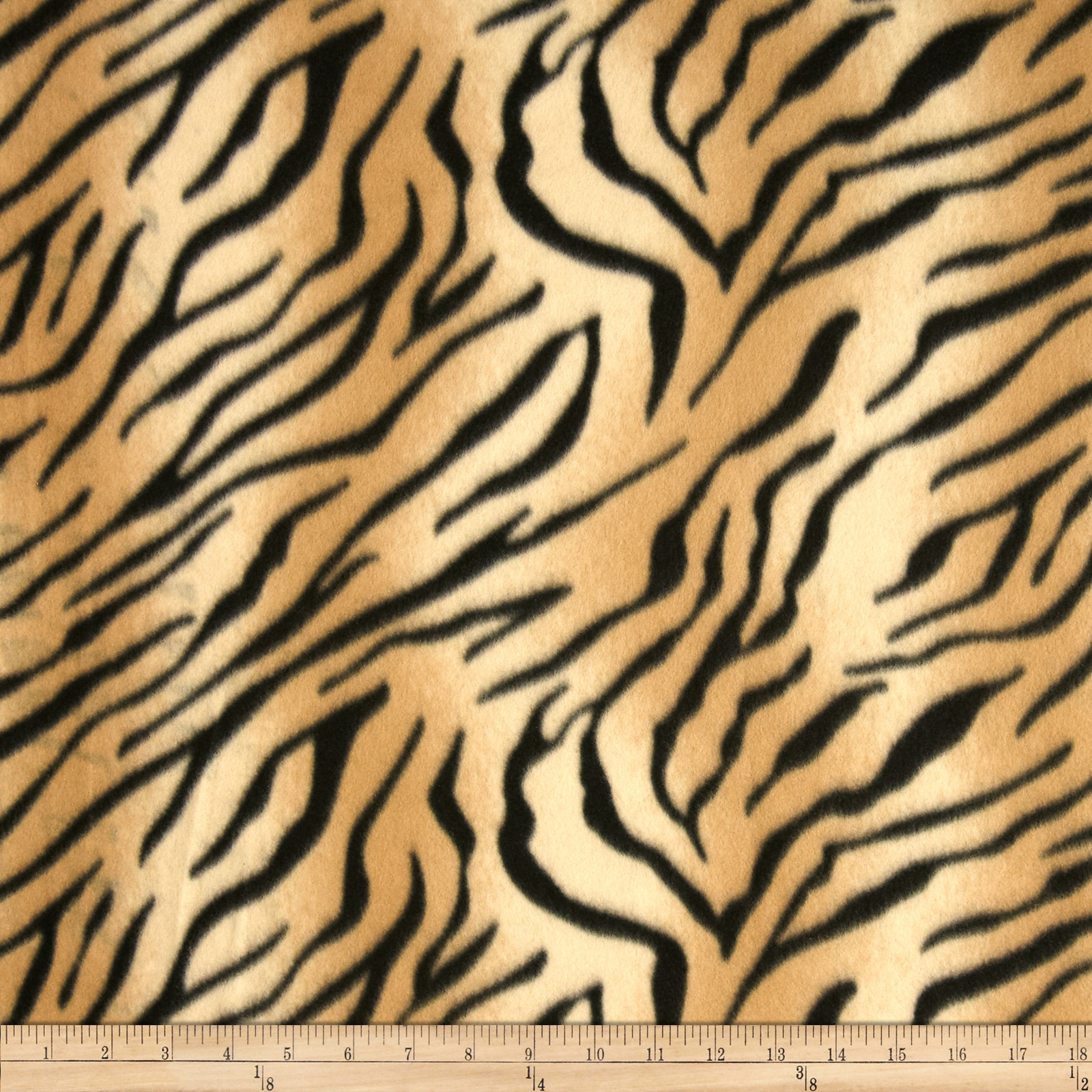 Fleece Print Tiger Gold