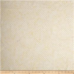 "Timeless Treasures 106"" Batik Dot Cream"